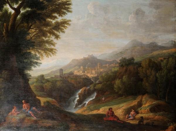 Landschaft, Franz von Bloemen, Umkreis, 17. Jh., Italien
