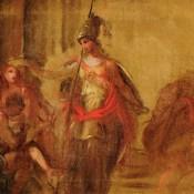 Skizze, Pozetto, religiös, 18. Jh., wohl Augsburg