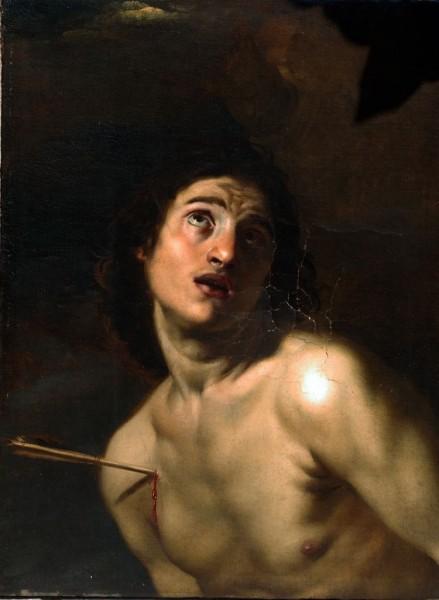 Hl. Sebastian, Carravagist, 16. Jh., Italien