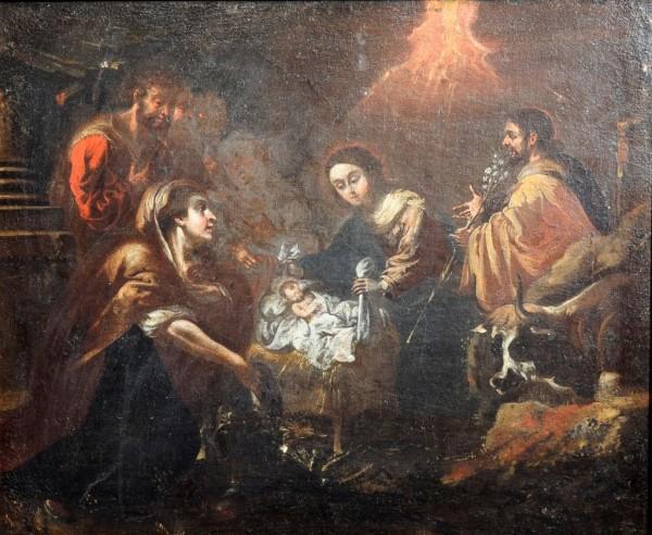 Anbetung der Hirten, spätes 17. Jh., Italien, wohl neapolitanisch