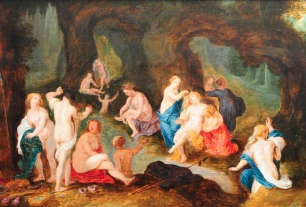 1092 Nymphen, flämisch, Kreis des Jan Breughel d.J. und Hendrick von Balen