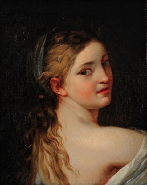 Portrait eines jungen Mädchens, 18. Jh., Frankreich
