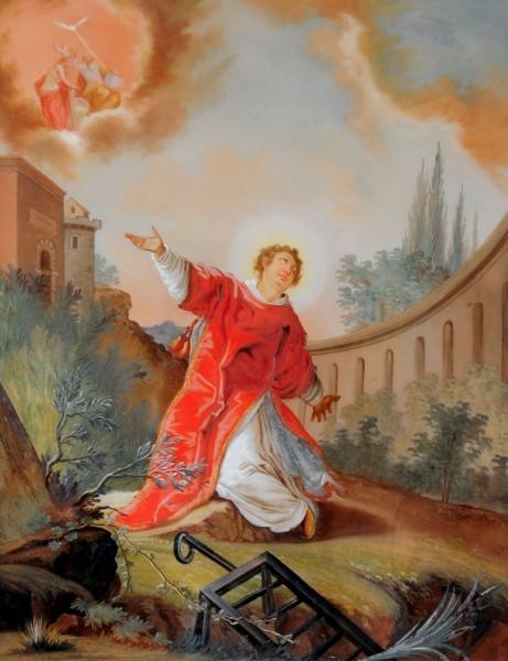 Hl Laurentius, wohl augsburgisch, 18. Jahrhundert
