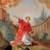 1120 Laurentius Glasbild