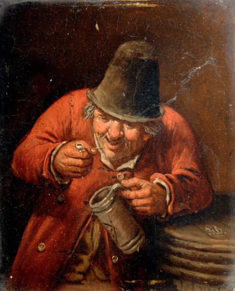 Wirt und Wirtin, 18. Jahrhundert, holländisch