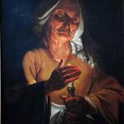 Alte Frau mit Kerze, Utrechter Maler des 17Jh.